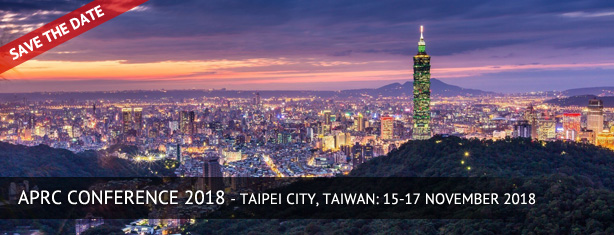 10th Annual APRC Conference in Taiwan, 15-17 November 2017